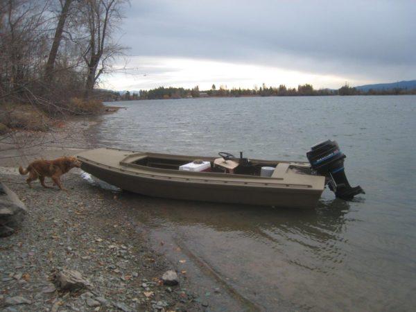 Devlin Cackler 14 DIY hunting skiff