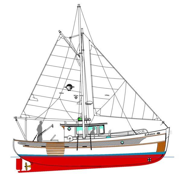 Devlin Kokanee 36 diy boat building plans