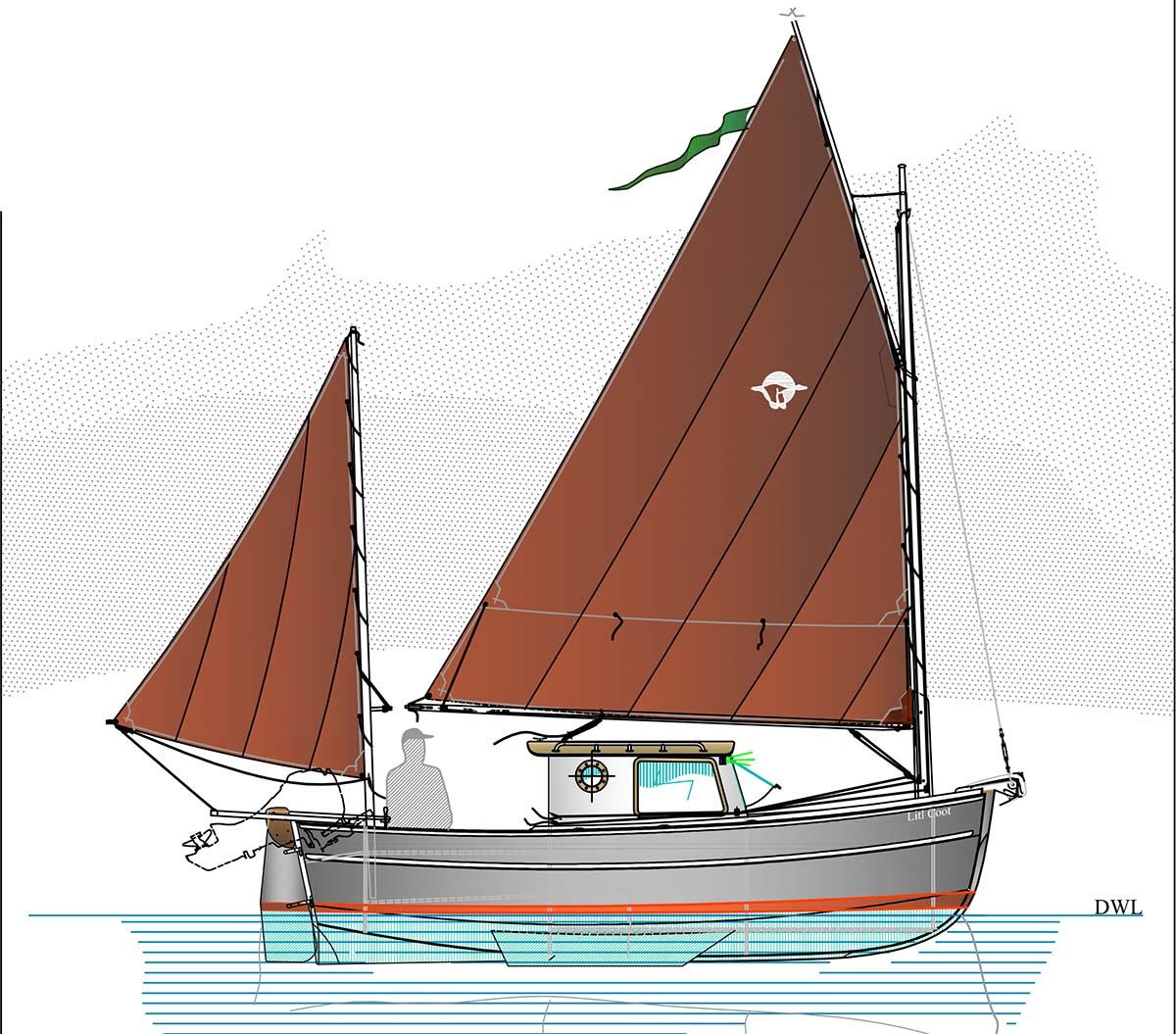 Lit'l Coot 18 Bilge Keel Plans | Devlin Designing Boat ...